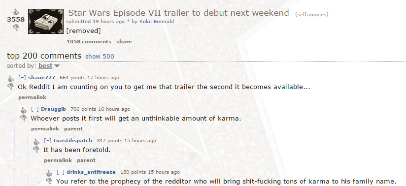 Star Wars Episode 7  Trailer - Reddit Rumor