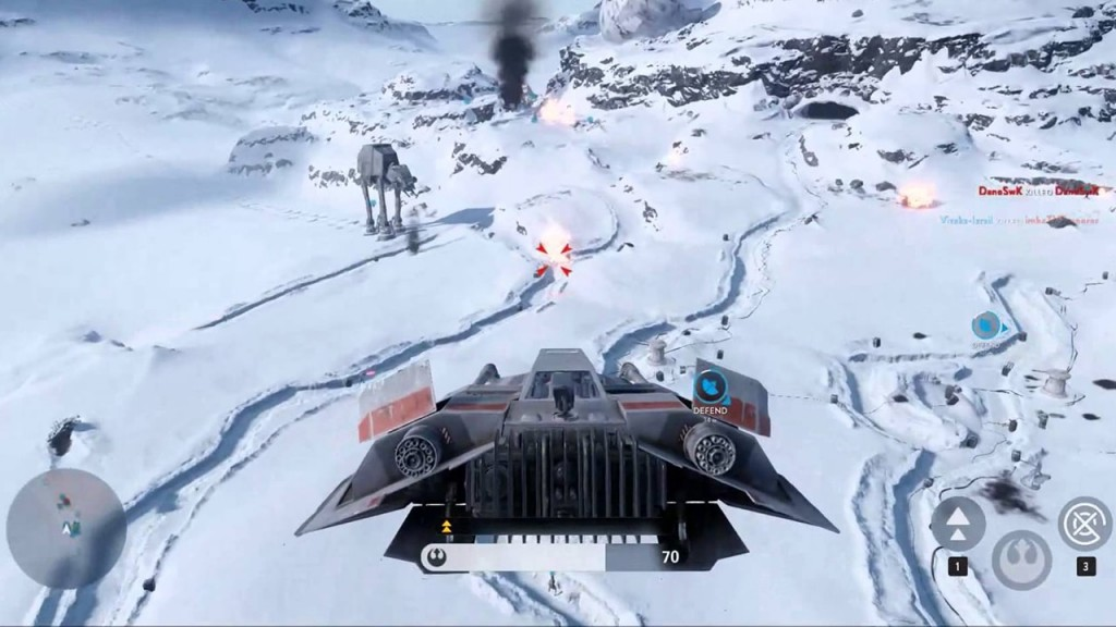 T-47 Airspeeder Attacking AT-AT