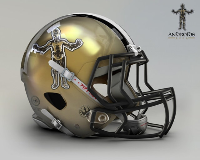 NFL Star Wars Football Helmet - Saints