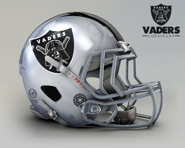 NFL Star Wars Football Helmet - Raiders