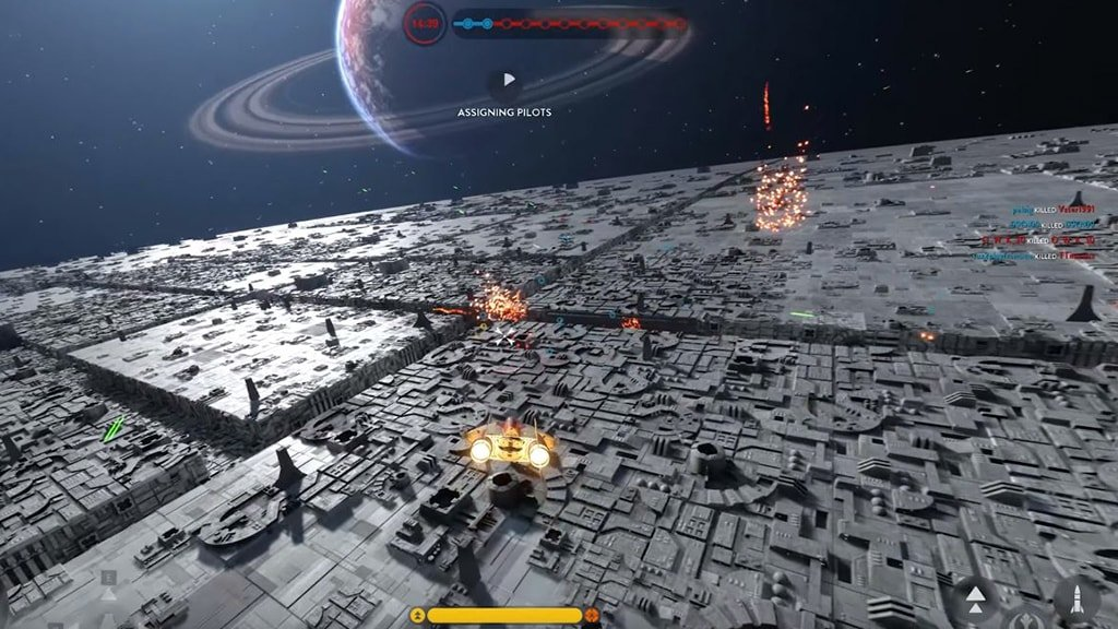 Battle Station Death Star Trench Run